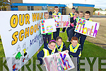 WALK ON: Members of the Ardfert national school Green Schools Committee promoting their walk to school initiative, front l-r: Sally O'Mahony, Nessa McGarty, Diarmuid O'Connor. Back l-r: Victoria Murphy, Eoghan Costello, Adrian Nolan, Abigail Mahony, Oliver Frank, Kevin Ashe.