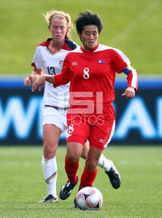 Korea DPR's PAE Yon Hui. USA v Korea Republic. FIFA U-17 Women's World Cup Final. North Harbour Stadium, Auckland, Sunday 16 October 2008. Photo: Simon Watts/PHOTOSPORT