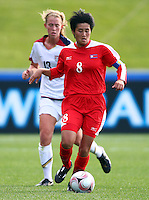 Korea DPR's PAE Yon Hui. USA v Korea Republic. FIFA U-17 Women's World Cup Final. North Harbour Stadium, Auckland, Sunday 16 October 2008. Photo: Simon Watts/PHOTOSPORT