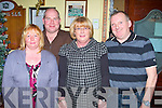PARTY TIME: Enjoying the New Year celebrations at the Na Gaeil clubhouse, Tralee on Friday l-r: Mary and Eddie Sheehy and Julette and John McAdams..