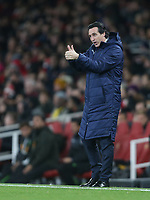 Arsenal manager Unai Emery <br /> <br /> Photographer Rob Newell/CameraSport<br /> <br /> UEFA Europa League Group E - Arsenal v Sporting CP - Thursday 8th November 2018 - Arsenal Stadium - London<br />  <br /> World Copyright © 2018 CameraSport. All rights reserved. 43 Linden Ave. Countesthorpe. Leicester. England. LE8 5PG - Tel: +44 (0) 116 277 4147 - admin@camerasport.com - www.camerasport.com