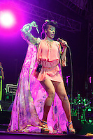 Zap Mama durante su concierto  Fiestas del Pitic 2013, Fiestas del Pitic, Belgian musical,World music, Polyphoni, Afro Pop music, Afro Pop, Afro Music,