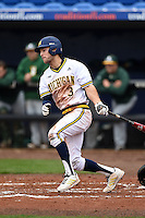 Michigan Wolverines outfielder Cody Bruder (3) during the second game of a doubleheader against the Siena Saints on February 27, 2015 at Tradition Field in St. Lucie, Florida.  Michigan defeated Siena 6-0.  (Mike Janes/Four Seam Images)