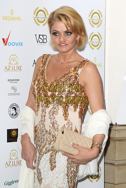Danniella Westbrook at the National Film Awards at the Porchester Hall, London on  Wednesday 28 March 2018 <br /> CAP/ROS<br /> &copy;ROS/Capital Pictures