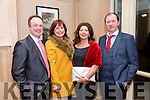 Enjoying the Lee Strand Social at Ballygarry House Hotel on Saturday were Jeremiah Daly, Maria Daly, Eva Costello and Maurice Costello
