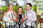 Ashling O Donoghue, Marie Barry and Áibhín O Neill from Ballydonoghue and Ballylongford. at the kerry Comhaltas Sult na nOg music competition at the IT Tralee on Saturday