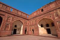 im roten Fort, Agra, Uttar Pradesh, Indien, Unesco-Weltkulturerbe