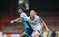 Sido Jombati of Wycombe Wanderers holds onto Scott Rendall of Aldershot Town during the pre season friendly match between Aldershot Town and Wycombe Wanderers at the EBB Stadium, Aldershot, England on 22 July 2017. Photo by Andy Rowland.