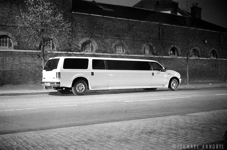 LIMOUSINE OUTSIDE CAMDEN MARKET AT NIGHT
