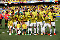 BARRANQUILLA  -COLOMBIA , 28,MARZO-2016. Formación de Colombia   contra  Ecuador    por la fecha 6 de las eliminatorias para el mundial de Rusia 2018 jugado en el estadio Metropolitano Roberto Meléndez./ Team  of   of Colombia againts of Ecuador  during   a match between Colombia and Ecuador as part of FIFA 2018 World Cup Qualifier six date at Metropolitano Roberto Melendez Stadium on March  28, 2015 in Barranquilla, Colombia. Photo: VizzorImage / Felipe Caicedo / Staff