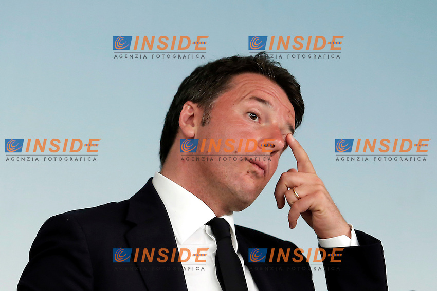 Matteo Renzi<br /> Roma 15-06-2016  Palazzo Chigi. Consiglio dei Ministri, CDM.<br /> Rome 15th June 2016. Press conference at the end of Minister's cabinet<br /> Photo Samantha Zucchi Insidefoto