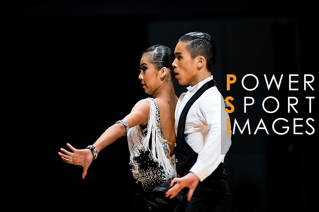 Tin Long Che and Ka Weng Lo of Macau during the Day 2 of the WDSF GrandSlam Hong Kong 2014 on June 01, 2014 at the Queen Elizabeth Stadium Arena in Hong Kong, China. Photo by AItor Alcalde / Power Sport Images