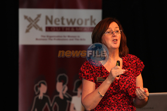 Fidelma Greene, Success Coach speaking at the Network Ireland National Conference and Businessswomen of the Year Awards 2012 - Friday 28th September in Drogheda, Co. Louth..Photo NEWSFILE/Jenny Matthews.