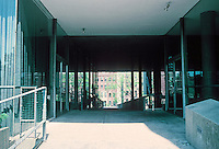Le Corbusier: Carpenter Center, top of sloping ramp ascending from Quincy St. Leads to Josep Lluis Sert Gallery.