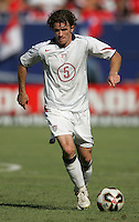 July 24, 2005: East Rutherford, NJ, USA:  USMNT midfielder John O'Brien (5) runs forward with the ball during the CONCACAF Gold Cup Finals at Giants Stadium.  The USMNT won 3-1 on penalty kicks.