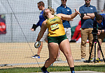 FARGO, ND - MAY 13: Katelyn Weimerskirch from North Dakota State University wins her 4th consecutive discus championship Saturday at the 2017 Summit League Outdoor Track Championship at the Ellig Sports Complex in Fargo, ND. (Photo by Dave Eggen/Inertia)