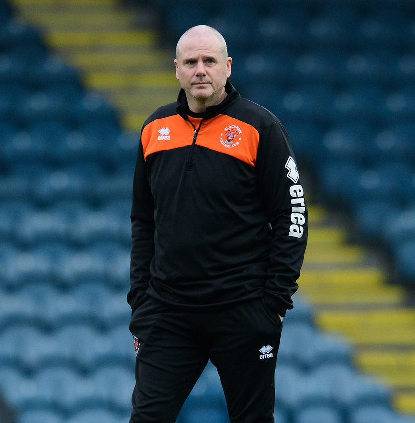 Blackpool's physiotherapist Phil Horner during the pre-match warm-up<br /> <br /> Photographer Chris Vaughan/CameraSport<br /> <br /> The EFL Sky Bet League One - Rochdale v Blackpool - Wednesday 26th December 2018 - Spotland Stadium - Rochdale<br /> <br /> World Copyright © 2018 CameraSport. All rights reserved. 43 Linden Ave. Countesthorpe. Leicester. England. LE8 5PG - Tel: +44 (0) 116 277 4147 - admin@camerasport.com - www.camerasport.com