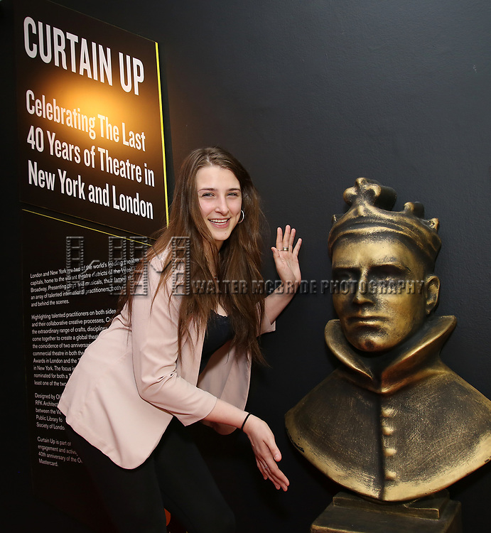 Leah Lane visits Curtain Up: Celebrating the Last 40 Years of Theatre in New York and London Exhibition on June 14, 2017 at the New York Public Library for the Performing Arts at Lincoln Center.