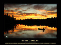 "This is a 18"" x 24"" commemorative poster design that features Dawn's stunning photograph, ""Sunset Paddle"",  which is part of the special Wilderness Forever Exhibit at the Smithsonian National Museum of Natural History.<br />