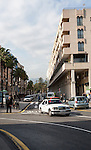Modern apartments and street city centre of Cueta, Spanish territory in north Africa, Spain