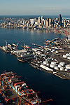 Seattle Skyline and South Industrial area