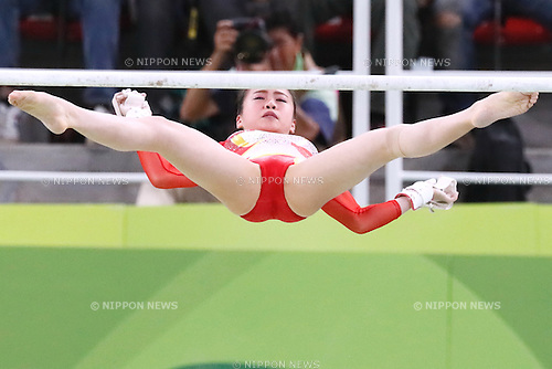 Aiko Sugihara (JPN), <br /> AUGUST 9, 2016 - Artistic Gymnastics : <br /> Women's Final <br /> Uneven Bars <br /> at Rio Olympic Arena <br /> during the Rio 2016 Olympic Games in Rio de Janeiro, Brazil. <br /> (Photo by Sho Tamura/AFLO SPORT)