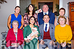 Little Ayda Rita O'Sullivan, Gneeveguilla celebrated her christening with her parents John and Leanne and family in the Killarney Oaks Hotel on Saturday front row l-r: Rita Foley, John and Leanne O'Sullivan, Joan riordan. Back row: Margaret Riordan, Marita Harnett, Tim O'Sullivan Mary B O'Sullivan
