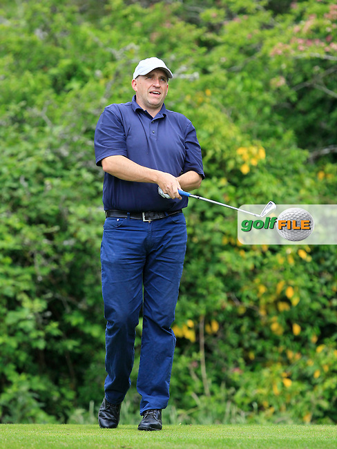 Tony Cleary (Woodstock) on the 2nd tee during Round 1 of the Irish Mid-Amateur Open Championship at New Forest on Saturday 20th June 2015.<br /> Picture:  Thos Caffrey / www.golffile.ie