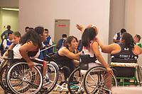 SÃO PAULO,SP, 21.03.2017 - PARAPAN-JUVENTUDE - Basquete em Cadeira Feminino - Argentina e Peru, durante jogo no CT Paralímpico Brasileiro, no Parapan da Juventude em São Paulo nesta terça-feira, 21. (Foto: Danilo Fernandes/Brazil Photo Press)