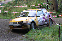 Roy MacLennan / Robin Nicolson at Junction 6, on Special Stage 1 Craigvinean in the Colin McRae Forest Stages Rally 2012, Round 8 of the RAC MSA Scotish Rally Championship which was organised by Coltness Car Club and based in Aberfeldy on 5.10.12.