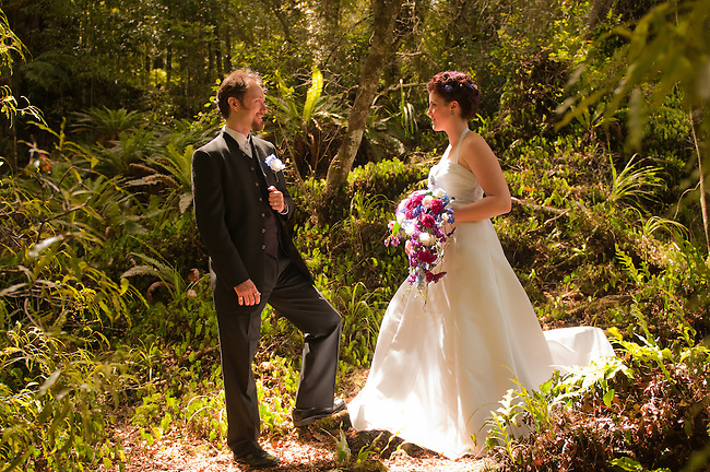 Kim & Brian Ward's secret wedding at the magical spot used as a set for Rivendell in the Lord of the Rings trilogy.