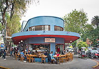 Cafe Toscano at the market in La Condesa neighborhood of Mexico City.