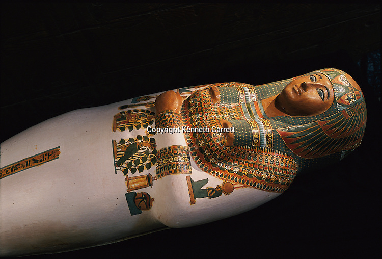 An anthropoid, mummiform coffin, Third Intermediate Period