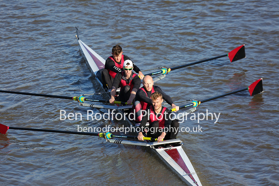 Crew: 238  VRC (M)  Vesta RC (H Asher)  4- Chall<br /> <br /> Fours Head of the River 2018<br /> <br /> To purchase this photo, or to see pricing information for Prints and Downloads, click the blue 'Add to Cart' button at the top-right of the page.