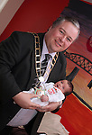 Mayor Paul Bell with baby Jake Tuohy at the Open Day for Boyne Garda Youth Project...Picture Jenny Matthews/Newsfile.ie