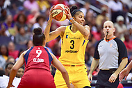 Washington, DC - August 17, 2018: Los Angeles Sparks forward Candace Parker (3) looks to make a play during game between the Washington Mystics and Los Angeles Sparks at the Capital One Arena in Washington, DC. (Photo by Phil Peters/Media Images International)