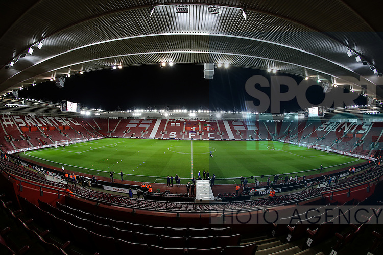 A general view of St Mary's Stadium during the Under 21 International Friendly match at the St Mary's Stadium, Southampton. Picture date November 10th, 2016 Pic David Klein/Sportimage