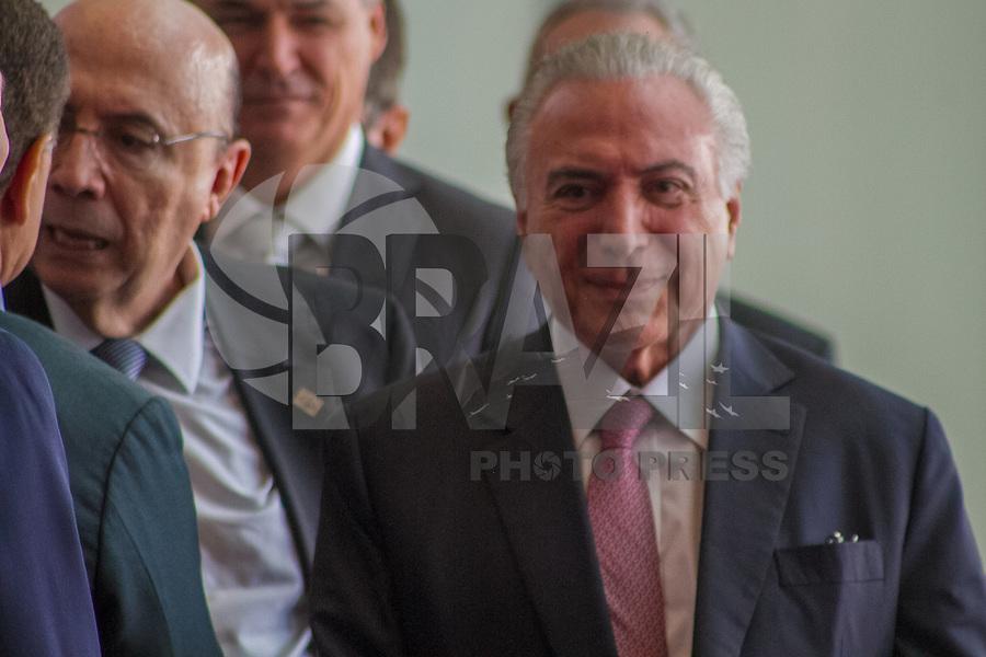SÃO PAULO, SP, 07.05.2018 -TEMER-SP- Presidente Michel Temer, na Abertura da APAS Show 2018, na Expo Center Norte, zona norte de São Paulo, nesta segunda-feira 07. (Foto: Danilo Fernandes/Brazil Photo Press)