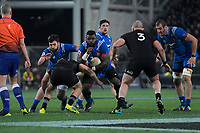 France's Dany Priso in action during the Steinlager Series international rugby match between the New Zealand All Blacks and France at Forsyth Barr Stadium in Wellington, New Zealand on Saturday, 23 June 2018. Photo: Dave Lintott / lintottphoto.co.nz