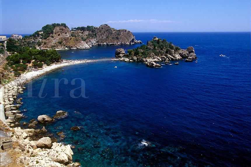 Mediterranean Seaside resort, Taormina, Sicily, Italy