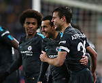 Pedro of Chelsea celebrates scoring the third goal during the premier league match at the John Smith's Stadium, Huddersfield. Picture date 12th December 2017. Picture credit should read: Simon Bellis/Sportimage