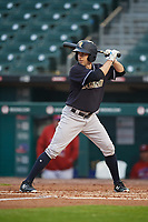 Scranton/Wilkes-Barre RailRiders Billy Burns (17) at bat during an International League game against the Buffalo Bisons on June 5, 2019 at Sahlen Field in Buffalo, New York.  Scranton defeated Buffalo 4-0, the second game of a doubleheader.  (Mike Janes/Four Seam Images)