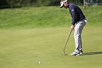 Joost Luiten (NED) takes his putt on the 17th green during Thursday's Round 1 of the 2017 Omega European Masters held at Golf Club Crans-Sur-Sierre, Crans Montana, Switzerland. 7th September 2017.<br /> Picture: Eoin Clarke | Golffile<br /> <br /> <br /> All photos usage must carry mandatory copyright credit (&copy; Golffile | Eoin Clarke)
