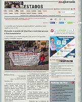 La Jornada, secci&oacute;n Estados.<br /> http://www.jornada.unam.mx/2017/02/11/estados/023n1est