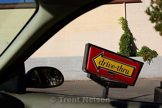 McDonald's drive-through<br />