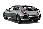 Car pictures of rear three quarter view of 2017 Honda Civic EX 5 Door Hatchback Angular Rear