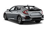 Car pictures of rear three quarter view of 2017 Honda Civic EX 5 Door Hatchback Angular Rear