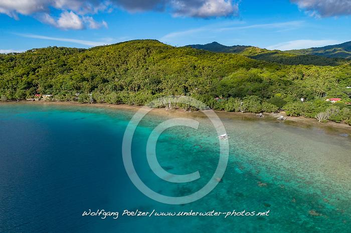Luftaufnahme von Mangrovenwald, Insel Romblon, Philippinen, Philippinensee, Philippinisches Meer, Pazifik Pazifischer Ocean / Aerial View of mangrove forest, Island Romblon, Philippines, Philippine Sea, Pacific, Pacific Ocean