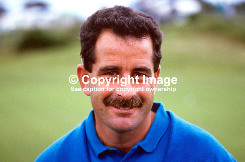 Sam Torrance, professional golfer, Scotland, Irish Open, Druids Glen, Co Wicklow, Ireland, 19870706ST1.<br /> <br /> Copyright Image from Victor Patterson, 54 Dorchester Park, <br /> Belfast, UK, BT9 6RJ<br /> <br /> t1: +44 28 9066 1296 (from Rep of Ireland 048 9066 1296)<br /> t2: +44 28 9002 2446 (from Rep of Ireland 048 9002 2446)<br /> m: +44 7802 353836<br /> <br /> e1: victorpatterson@me.com<br /> e2: victorpatterson@gmail.com<br /> <br /> www.victorpatterson.com<br /> <br /> Please see my Terms and Conditions of Use at www.victorpatterson.com. It is IMPORTANT that you familiarise yourself with them.<br /> <br /> Images used on the Internet must be visibly watermarked i.e. &copy; Victor Patterson within the body of the image and copyright metadata must not be deleted. Images used on the Internet have a size restriction of 4kbs and will be chargeable at current NUJ rates unless agreed otherwise.<br /> <br /> This image is only available for the use of the download recipient i.e. television station, newspaper, magazine, book publisher, etc, and must not be passed on to any third party. It is also downloaded on condition that each and every usage is notified within 7 days to victorpatterson@me.com<br /> <br /> The right of Victor Patterson to be identified as the author is asserted in accordance with The Copyright Designs And Patents Act (1988).