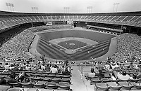 SAN FRANCISCO, CA - Overall interior wide angle view of the San Francisco Giants home stadium during a game against the New York Mets in 1984 at Candlestick Park in San Francisco, California. (Photo by Brad Mangin)